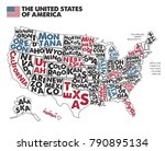 poster map of united states of... | Shutterstock .eps vector #790895134