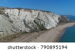 aerial photo of azure blue sea...   Shutterstock . vector #790895194