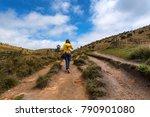 woman walks in horton plains   Shutterstock . vector #790901080