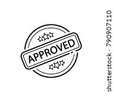 approved rubber stamp  line... | Shutterstock .eps vector #790907110
