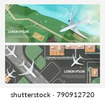 set of horizontal banners with... | Shutterstock .eps vector #790912720
