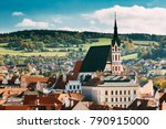 st. vitus church and cityscape...   Shutterstock . vector #790915000