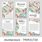 abstract vector layout... | Shutterstock .eps vector #790921720
