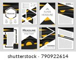 abstract vector layout... | Shutterstock .eps vector #790922614