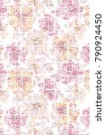 abstract seamless floral... | Shutterstock . vector #790924450