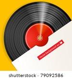 black vinyl disc with cover | Shutterstock .eps vector #79092586
