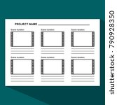 storyboard template in form of... | Shutterstock .eps vector #790928350