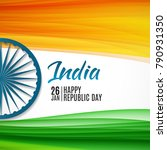 happy india republic day26... | Shutterstock .eps vector #790931350