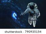 awesome spiral galaxy. deep... | Shutterstock . vector #790935154