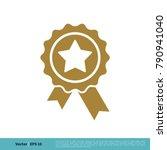 badge stamp ribbon winner sign... | Shutterstock .eps vector #790941040