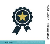 badge stamp ribbon winner sign... | Shutterstock .eps vector #790941043