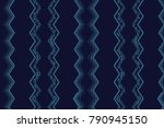 seamless pattern  blue and navy ... | Shutterstock . vector #790945150