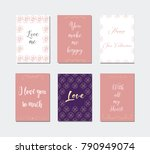 decorative greeting cards for... | Shutterstock .eps vector #790949074