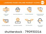 flat line design concept icons... | Shutterstock .eps vector #790950316