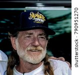 Small photo of Washington, DC. USA, 31st August, 1991 Country Music artist WIllie Nelson during the AFL-CIO Rally in downtown DC.