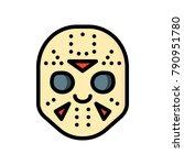 horror emojis   jason  | Shutterstock .eps vector #790951780