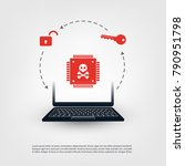 laptop equipped with a... | Shutterstock .eps vector #790951798