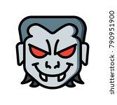 horror emojis   vampire  | Shutterstock .eps vector #790951900