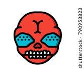 horror emojis   demon  | Shutterstock .eps vector #790953823