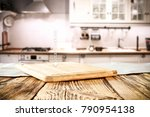 table background of kitchen and ... | Shutterstock . vector #790954138