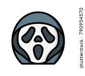 horror emojis   scream  | Shutterstock .eps vector #790954570