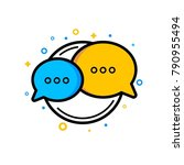 chat bubbles conversation icon | Shutterstock .eps vector #790955494