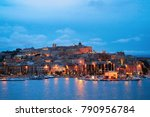 cityscape with marina in the...   Shutterstock . vector #790956784