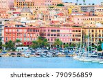 cityscape with marina in the... | Shutterstock . vector #790956859