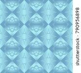blue metallic regular seamless...   Shutterstock . vector #790956898