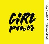 girl power lettering.... | Shutterstock .eps vector #790959244