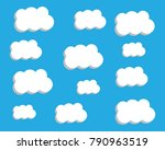 blue sky with cloud vector icon | Shutterstock .eps vector #790963519