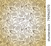cacao beans seamless pattern | Shutterstock .eps vector #790963570