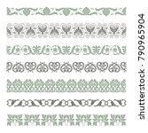 set of seamless decorative... | Shutterstock .eps vector #790965904