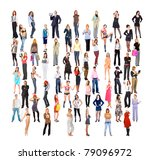diversity big crowd concept | Shutterstock . vector #79096972