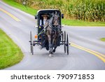 amish pennsylvania  usa  ... | Shutterstock . vector #790971853