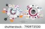 business infographic layout | Shutterstock .eps vector #790973530