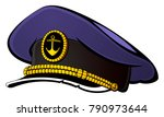 sea captain's cap. | Shutterstock .eps vector #790973644