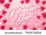 happy valentines day lettering... | Shutterstock .eps vector #790974004