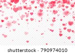 heart confetti falling on... | Shutterstock .eps vector #790974010