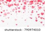 heart confetti falling on... | Shutterstock .eps vector #790974010