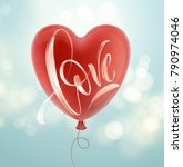 valentines day card with love...   Shutterstock .eps vector #790974046