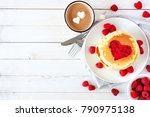 pancakes with jam in shape of... | Shutterstock . vector #790975138