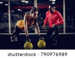 young healthy focused sporty... | Shutterstock . vector #790976989