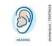 ear. organ of sense. hearing... | Shutterstock .eps vector #790978618