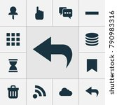user icons set with application ...