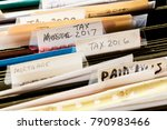 scruffy and untidy file folders ...   Shutterstock . vector #790983466