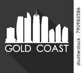 gold coast australia oceania... | Shutterstock .eps vector #790983586