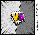 pop art monochrome manga...   Shutterstock .eps vector #790985260