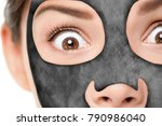 funny beauty facial treatment... | Shutterstock . vector #790986040
