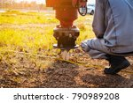 technician installing ground... | Shutterstock . vector #790989208